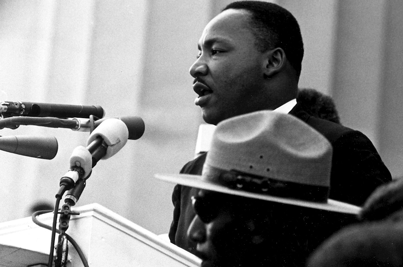 «I Have a Dream»: Martin Luther King Jr. hält seine berühmte Rede am 28. August 1963 in Washington D.C.|wikimedia